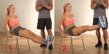 Office chair leg raise